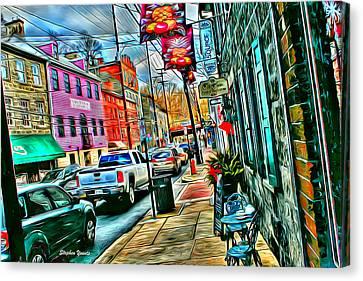 Ellicott City Street Canvas Print