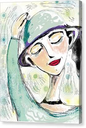 Ellie Canvas Print by Elaine Lanoue