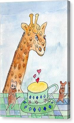 Elliott And Penelope Have Tea Canvas Print