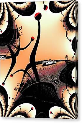 Elliott Bay Ferry Fractal Canvas Print by Tim Allen