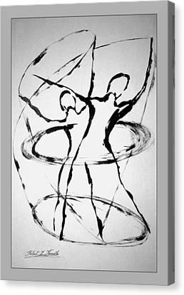 Elliptical Dervishes Canvas Print