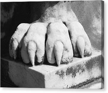 Cemetary Canvas Print - Elmwood Cemetery - Lions Paw by Jon Woodhams