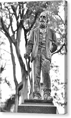 Elmwood Cemetery - Man With Cane Canvas Print by Jon Woodhams