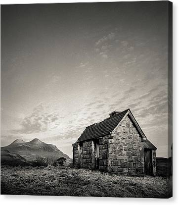 Abandoned House Canvas Print - Elphin Bothy by Dave Bowman