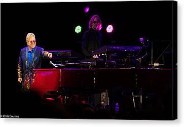 Elton - Enjoying The Show Canvas Print