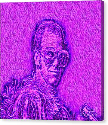 Elton In Purple Canvas Print by Pd