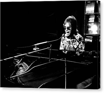 Elton John 1970 #4 Canvas Print by Chris Walter