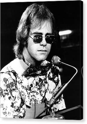 Elton John 1970 #1 Canvas Print by Chris Walter
