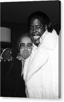 Elton John And Barry White Canvas Print by James Fortune