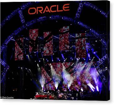 Elton John At Oracle Open World In 2015 Canvas Print