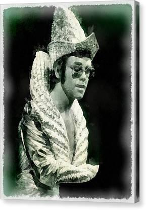 Elton John Canvas Print - Elton John By John Springfield by John Springfield