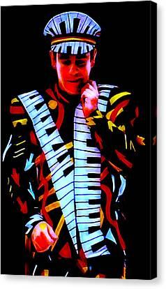 Elton John Collection Canvas Print by Marvin Blaine