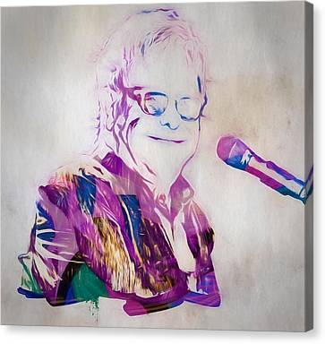 Elton John Canvas Print - Elton John by Dan Sproul