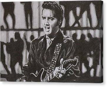 Elvis - 68 Comeback Canvas Print by Mike OConnell