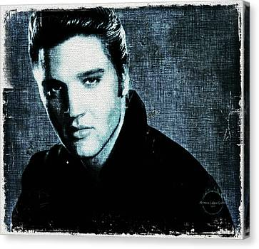 1950s Portraits Canvas Print - Elvis by Absinthe Art By Michelle LeAnn Scott