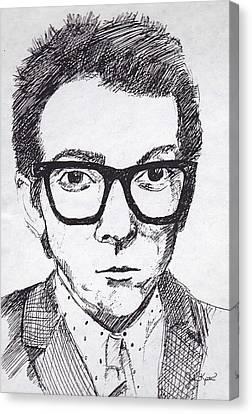 Elvis Costello Canvas Print by John Keaton