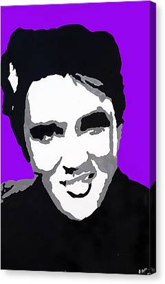Canvas Print featuring the drawing Elvis Don't Live Here Anymore by Robert Margetts