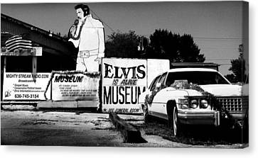 Elvis Is Alive Museum Canvas Print by Todd Fox