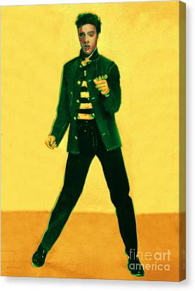 Elvis Is In The House Canvas Print by Wingsdomain Art and Photography