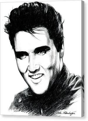 Elvis Canvas Print - Elvis by Lin Petershagen