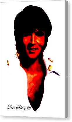 Elvis By Loxi Sibley Canvas Print by Loxi Sibley