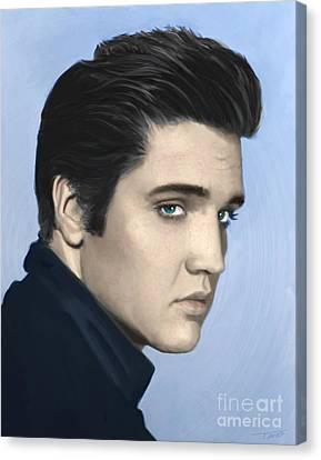 Elvis Presley Canvas Print - Elvis by Paul Tagliamonte