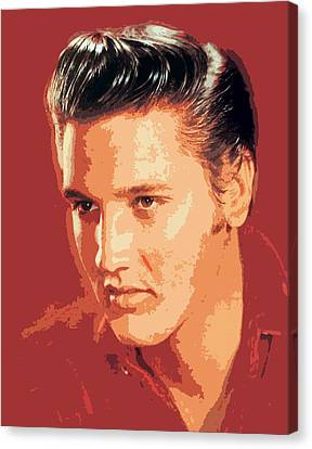 Elvis Presley - The King Canvas Print by David Lloyd Glover