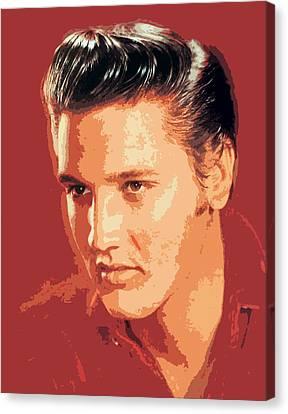 Elvis Presley - The King Canvas Print by David Lloyd Glover