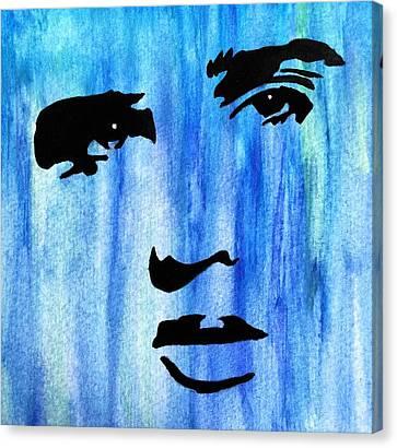 Elvis Presley Blue  Canvas Print by Shawn Brandon
