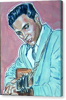 Elvis Presley Canvas Print by Bryan Bustard