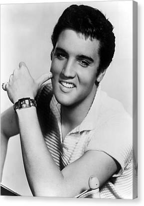 1950s Portraits Canvas Print - Elvis Presley, Ca. 1950s by Everett