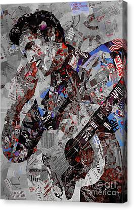 Elvis Presley Collage Canvas Print by Gull G