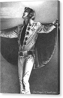 Elvis Presley II Canvas Print by Dan Clewell