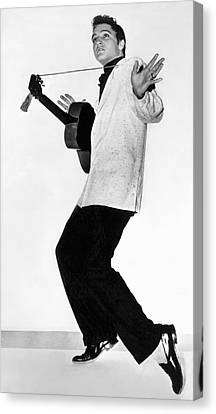 Young Man Canvas Print - Elvis Presley In 1956 by Underwood Archives