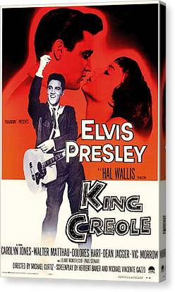 Elvis Presley In King Creole 1958 Canvas Print by Mountain Dreams