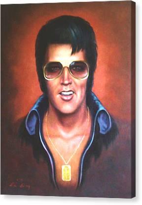 Elvis Presley Canvas Print by Loxi Sibley
