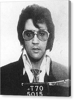 Police Canvas Print - Elvis Presley Mug Shot Vertical by Tony Rubino