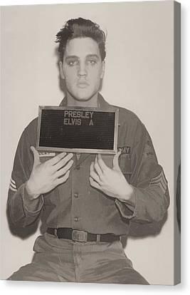 Arrest Canvas Print - Elvis Presley Mugshot by Dan Sproul