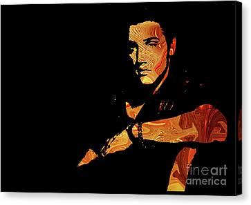 Celebrities Canvas Print - Elvis Presley by Prar Kulasekara