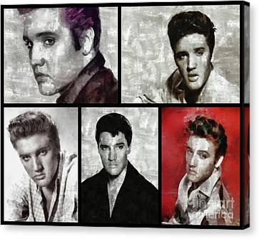 Elvis Presley, Singer Canvas Print