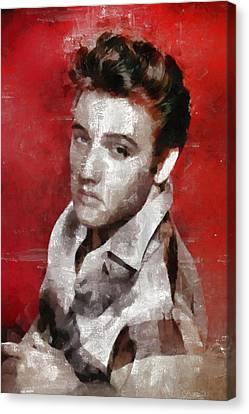 Mansfield Canvas Print - Elvis Presley, Singer by Mary Bassett