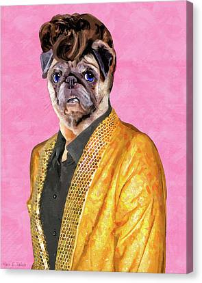 Elvis Pugsley - The King Canvas Print