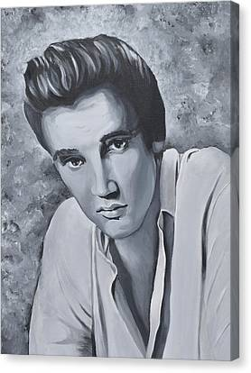 Elvis Resurrected Canvas Print by Donna Cook