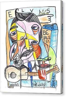 Elvis Canvas Print by Robert Wolverton Jr