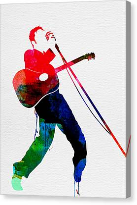 Elvis Watercolor Canvas Print by Naxart Studio