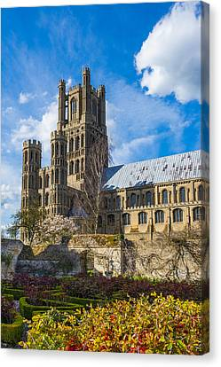 Ely Cathedral And Garden Canvas Print