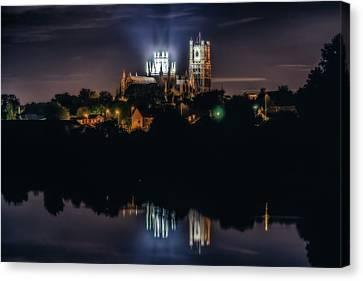 Ely Cathedral By Night Canvas Print