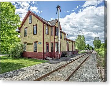 Ely Vermont Train Station Canvas Print