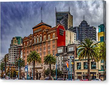 Embarcadero Street Canvas Print by Bill Gallagher