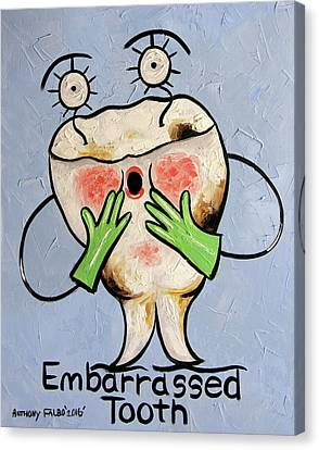 Embarrassed Tooth Canvas Print by Anthony Falbo